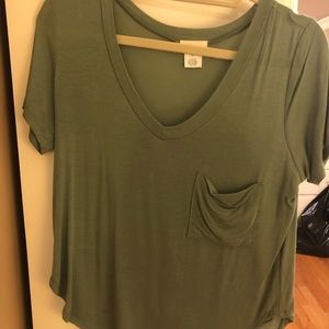 Wet Seal Army Green Top
